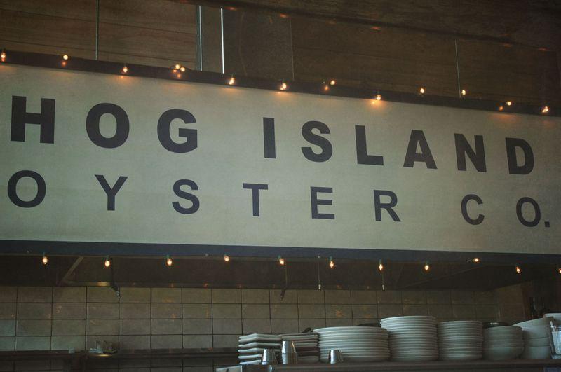 Hog Island sign