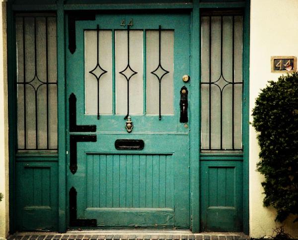 NY Blue door