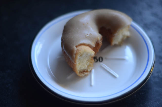 Vegan maple donut