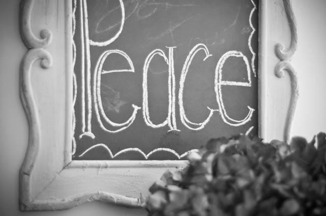 Peace bw